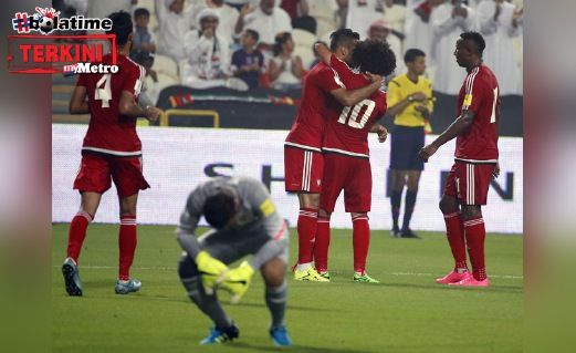 Malaysia hadiahkan UAE 10 gol tanpa balas dalam kelayakan Piala Dunia 2018/ Piala Asia 2019