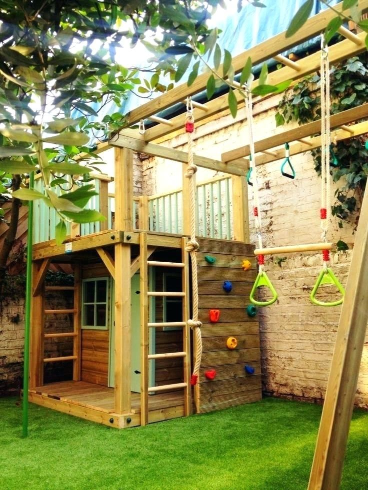 Backyard Climbing Structures Small Garden Ideas Outdoor Areas More