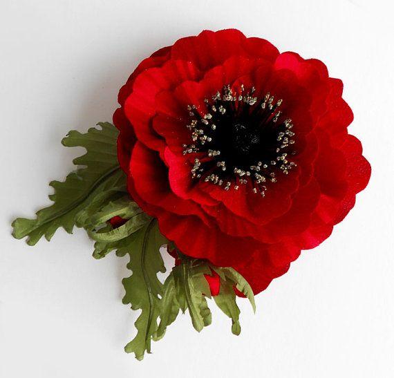 Red+fabric+flower+brooch%2C+silk+flower%2C+bridal+brooch+%2C+flower+for+sash%2C+bridesmaid+hair+clip%2C+flower+hair+clip%2C+mother+of+a+bride+brooch.