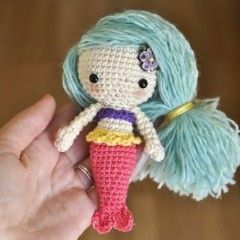 игрушка амигруми русалка схема вязания крючком