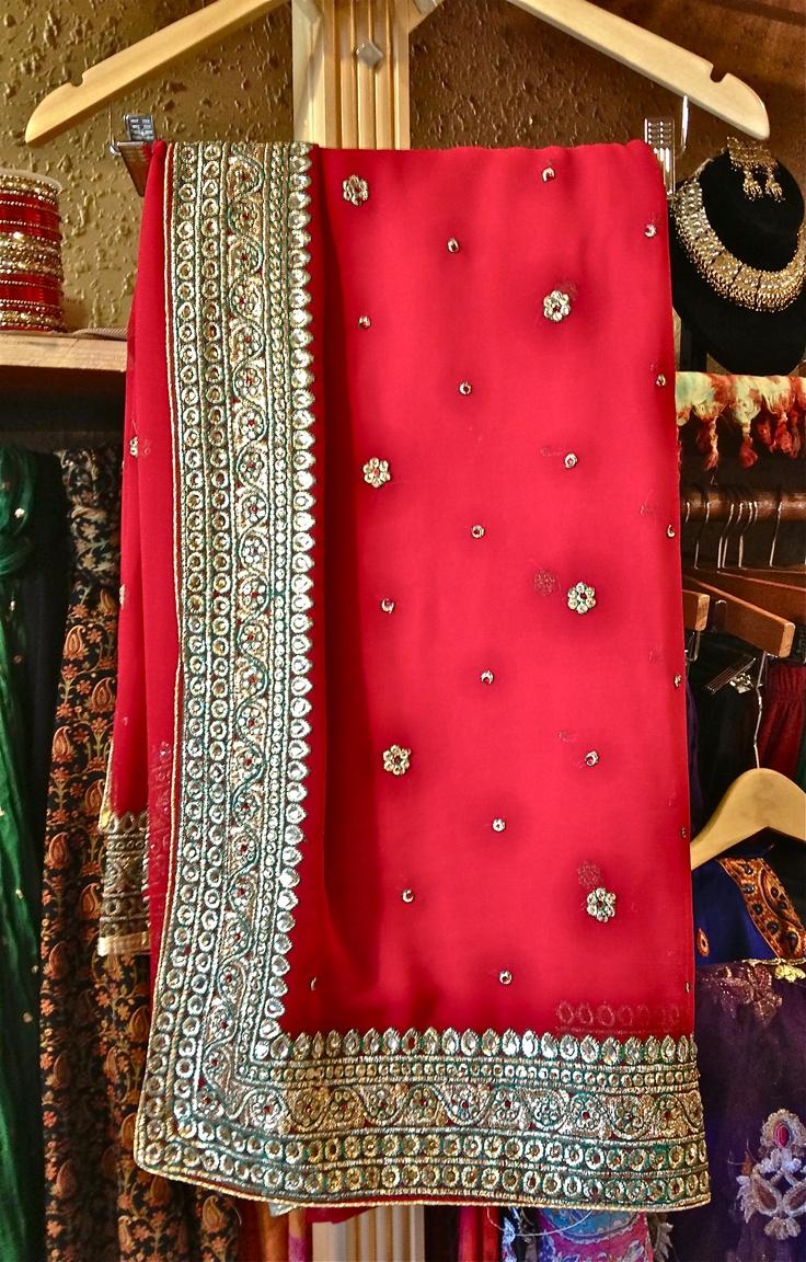 The classic red and gold sari/saree