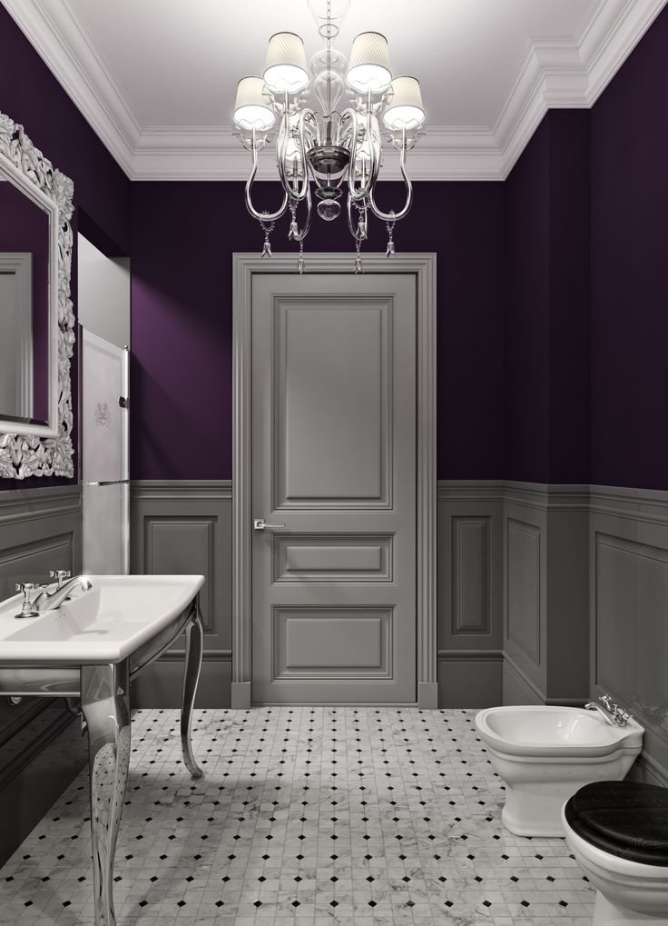 Purple is a very Victorian color, and with this renovation the color works beautifully by keeping the old world charm and sophisticated air. www.PrestigePaints.com