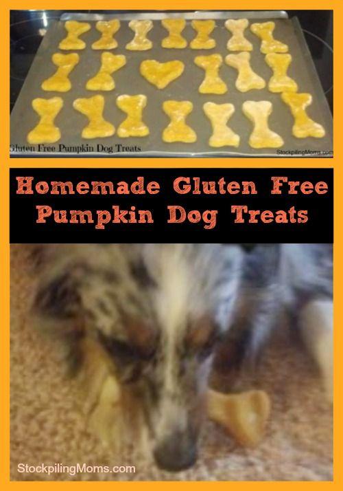 Gluten Free Pumpkin Dog Treats | #homemade #DIY #pet