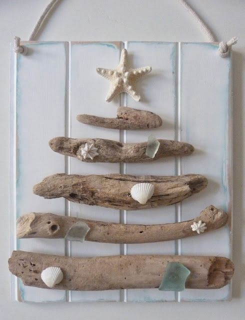 beachcomber driftwood christmas tree...this would be a perfect Christmas decor idea for here, and every year even AFTER we leave the island, I'll remember this season of our life:)