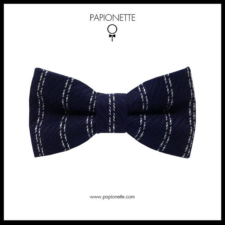 Papion Navy White Stripes - Papionette