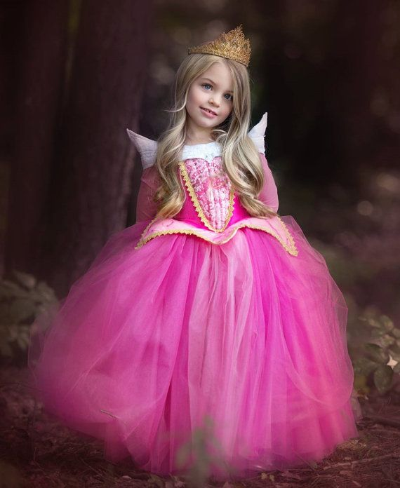Sleeping Beauty Aurora Costume  Pink Blue Dress by EllaDynae