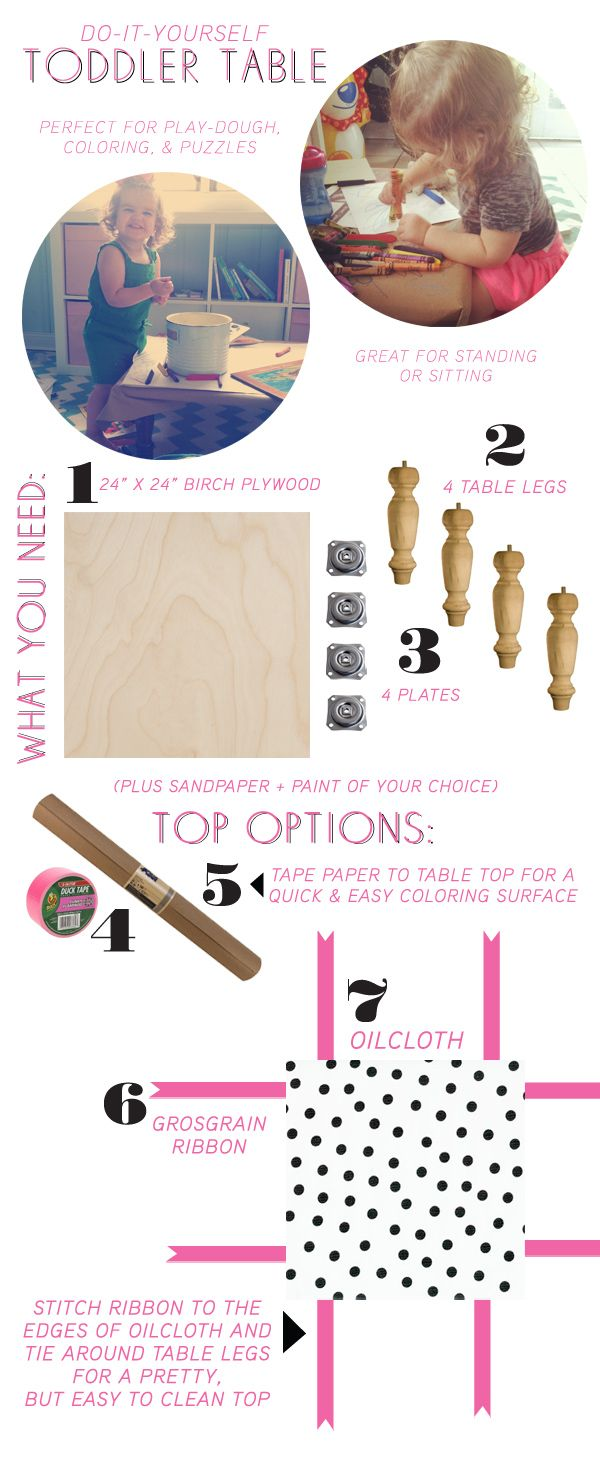 Make your own craft table - Make Your Own Table For Toddlers With Help From Style Spotter Joni Lay Learn How