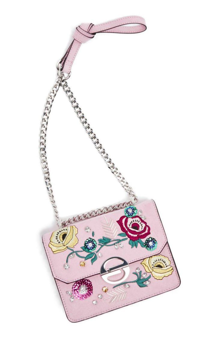 Embellished Faux Suede Crossbody Bag - Topshop #floral #floralbag #handbags #floralprint #affiliatelink