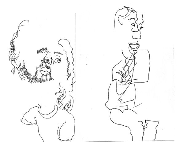 Blind Contour Line Drawing Tutorial : Best art faces people images on pinterest
