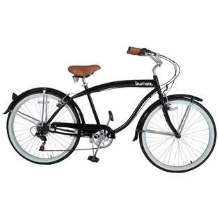 Bicicleta Bike BURNETT Diant/Tras Shimano PL-BC 15 RETRO M ARO 26 Preto - Paquetá Esportes