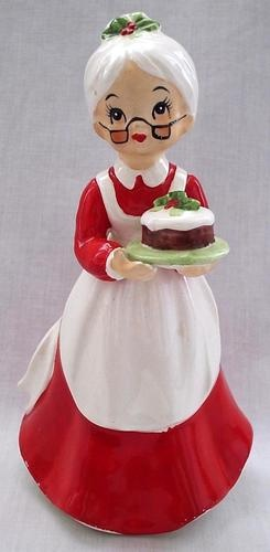"Vintage Josef Originals Ceramic Mrs Claus Christmas Figurine 6 1 4"" Tall Japan 