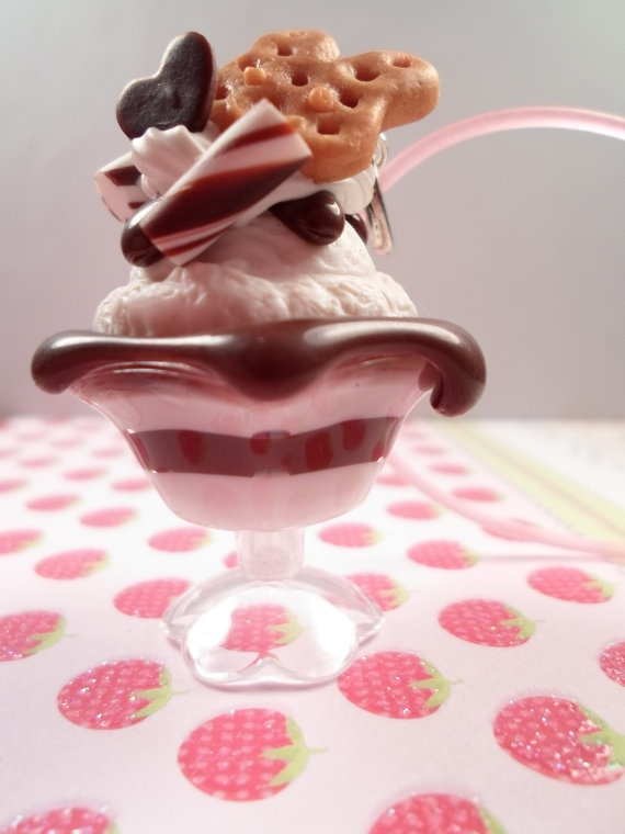 Chocolate Pudding Parfait Decoden Necklace by Lucifurious on Etsy, $14.00