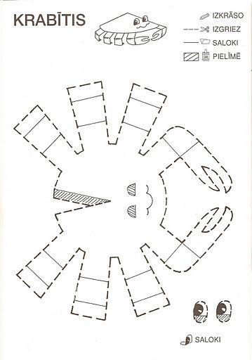 Recortando animalitos en papel - Cangrejo