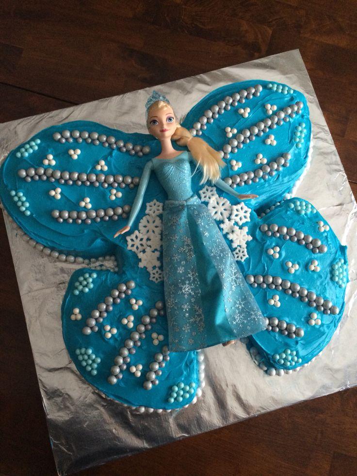 Butterfly Princess Themed Birthday Cake
