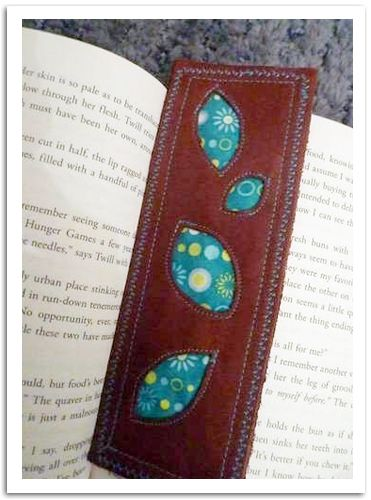 Leather Bookmark using the BERNINA 350PE - MASTER CRAFTSTERS by Rlynn