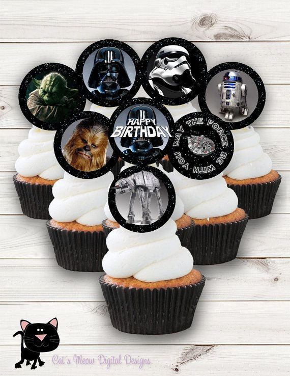 The 25 best Star wars cupcake toppers ideas on Pinterest Star