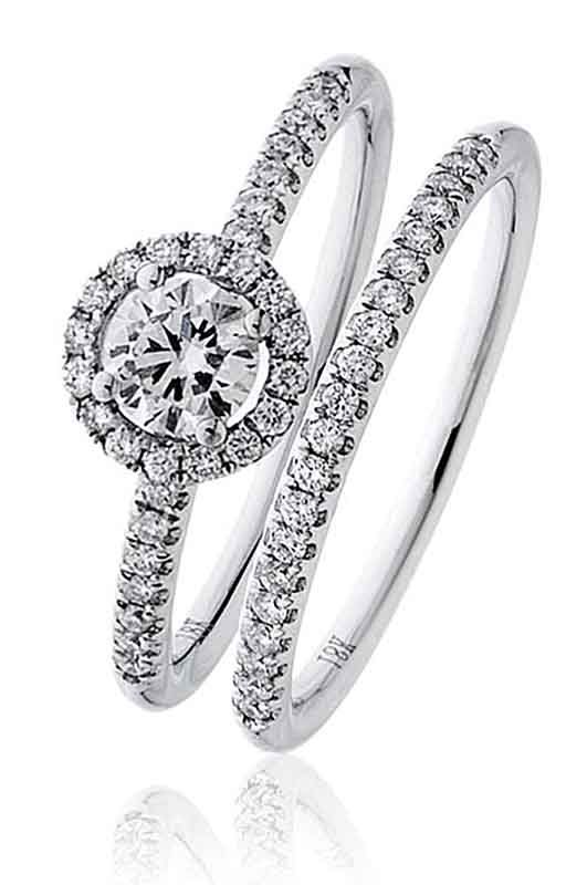 Dimaond Halo Ring only!Centre Diamond Weight 0.30 Carat