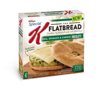 Kellogg's Special K Flatbread Sandwich Egg, Spinach & Cheese Medley