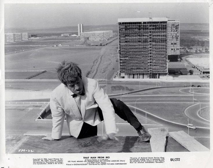 L'homme de rio de Philippe de Broca  avec Jean Paul Belmondo.  Architecture Niemeyer