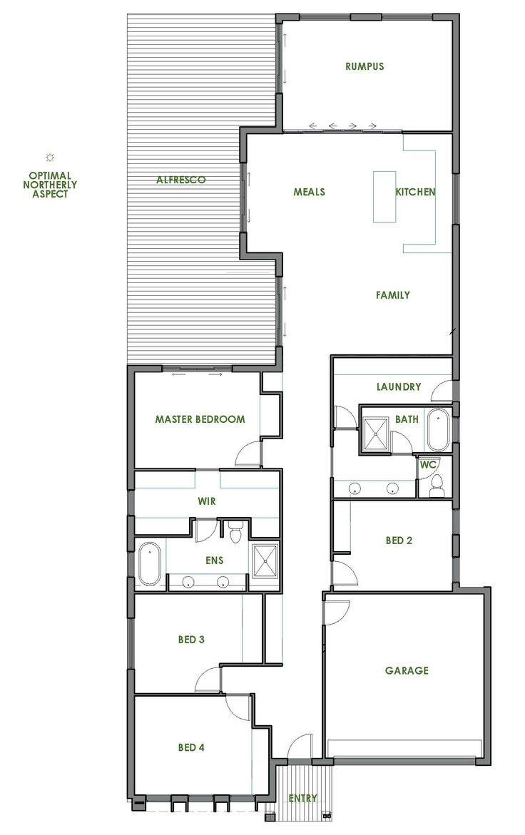 The Rosedale home design is contemporary, affordable and energy efficient. Take a look at the floorplan and find out how affordable it is to build Green.