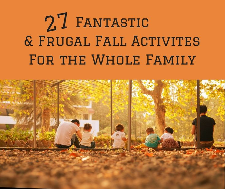 Free Printable List of Frugal Fall Activities for the Whole Family