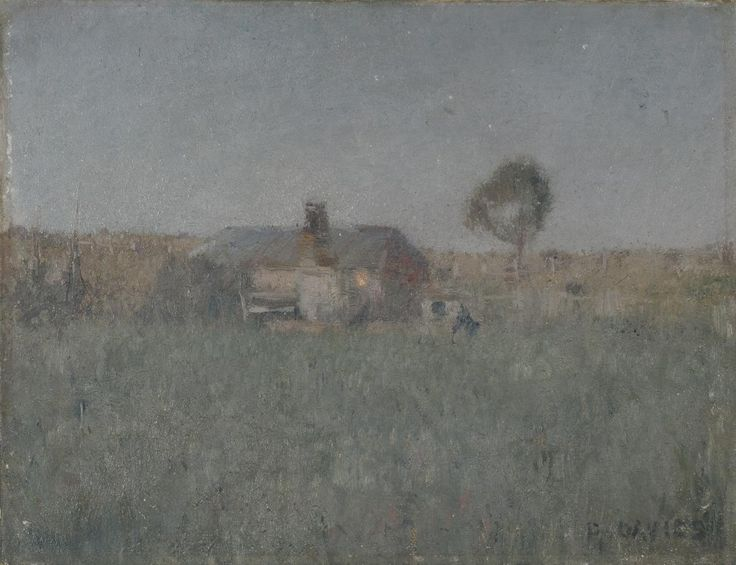 Twilight at Ivanhoe (c. 1895):    David DAVIES (Australian. Born 1864 Ballarat, Victoria - Died 1939