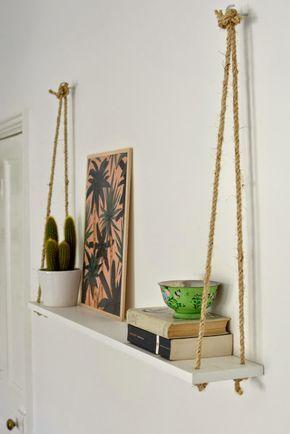 DIY: Estanterías hechas con cuerda de saco