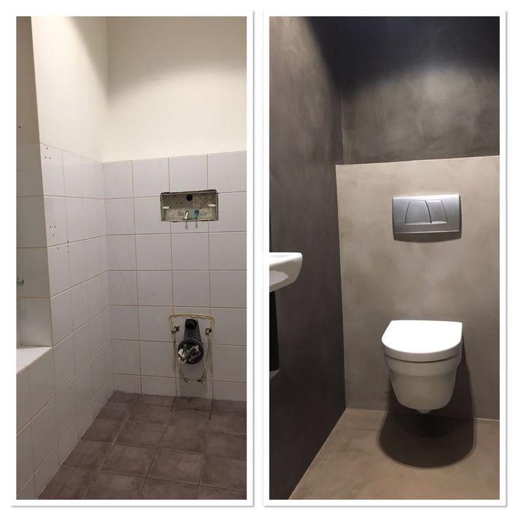 Toiletrenovatie met Cementlook