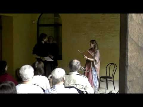 """""""En mi la rousee [nest flor]"""", a 13th-century anonymous pastourelle performed live by Evelyne Moser, Davide Di Giannantonio (and Denis Vanderhaegen) during their concert """"Le troubadour et la trouveresse"""" at the """"Festival Prieurales 2010""""."""