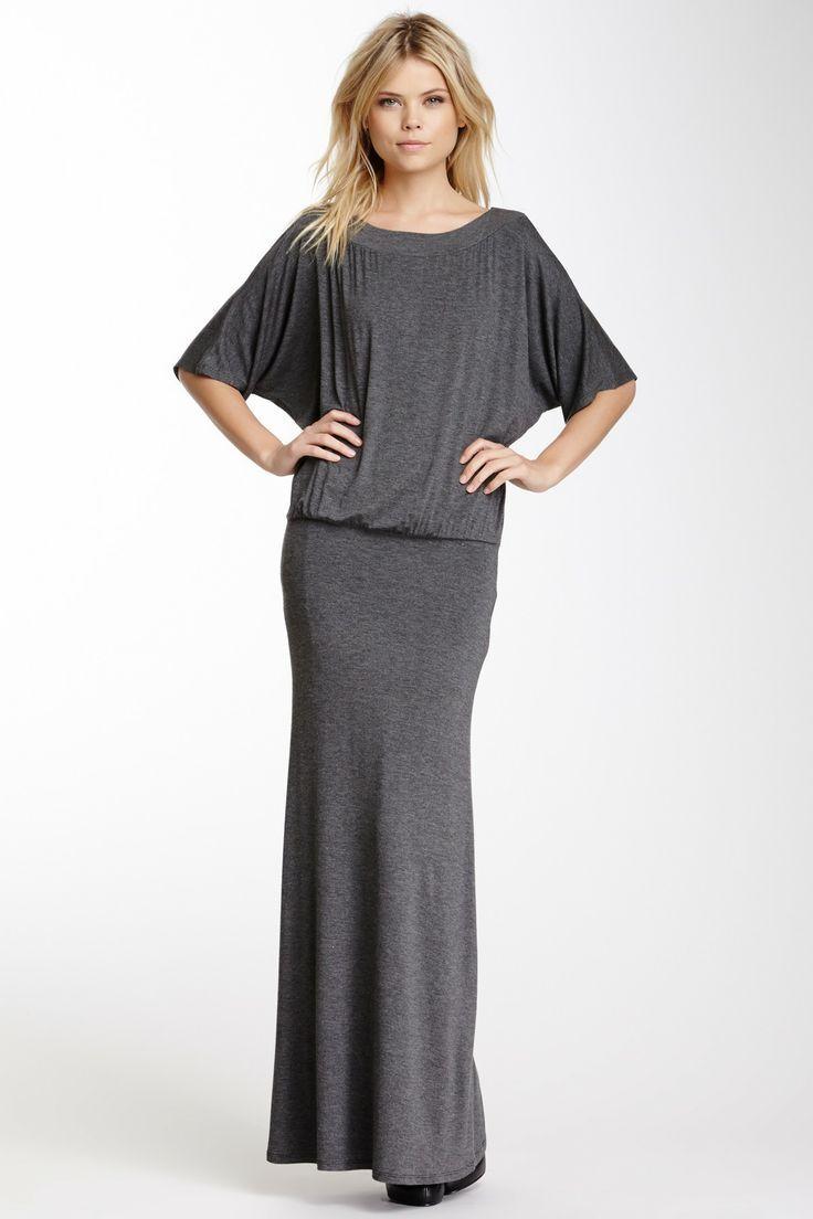 Elbow Dolman Sleeve Maxi Dress