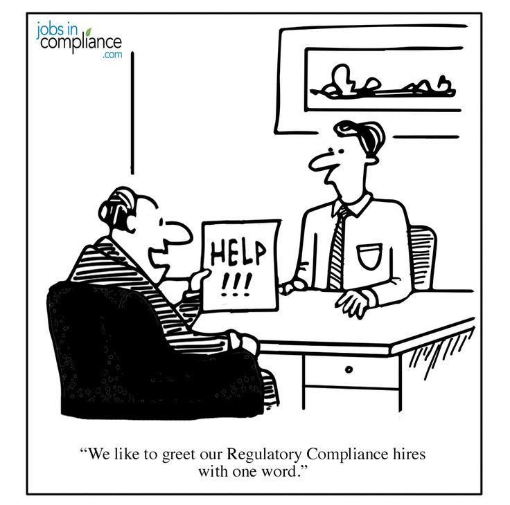 """We like to greet our Regulatory Compliance hires with one word."""