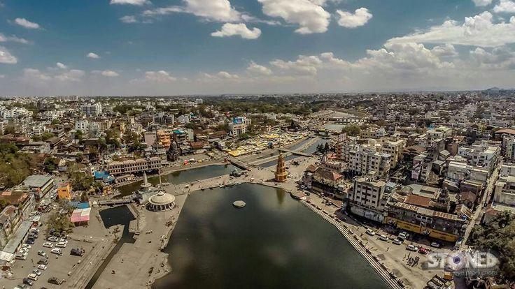 Godavari river bank ....the superb cam view of river with beautiful #Nashik_City..