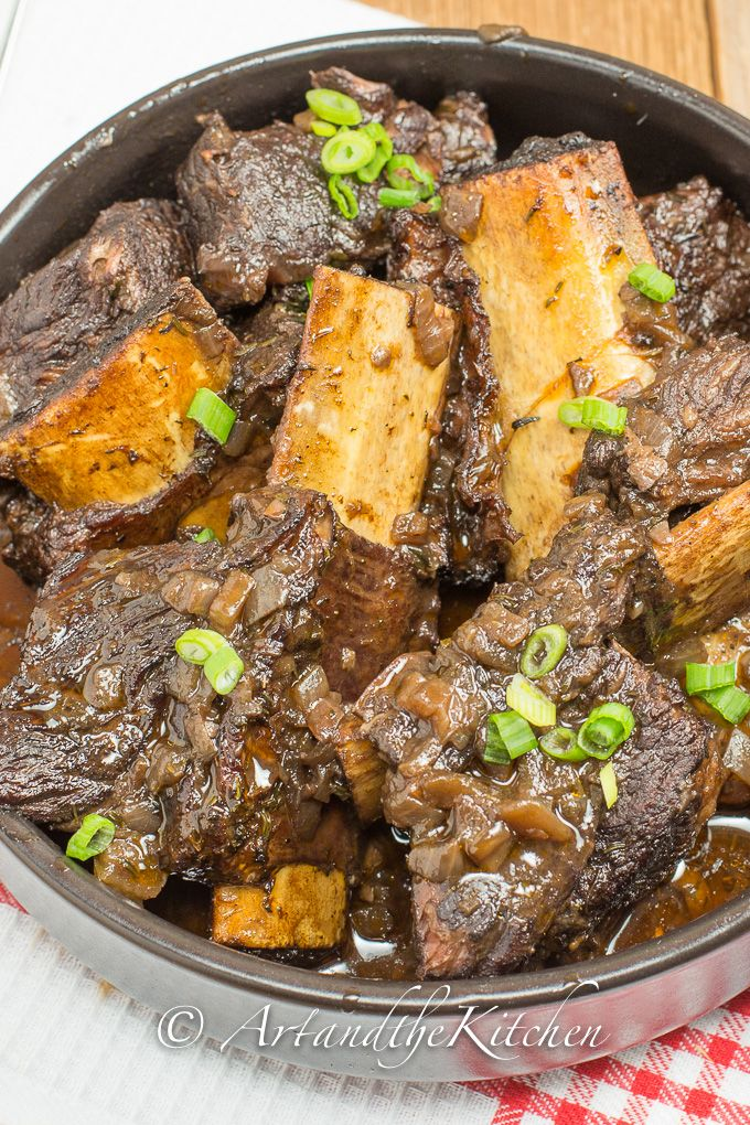 Red Wine and Beer Braised Short Ribs | Art and the Kitchen -one of my Top 10 ultimate comfort food recipes.