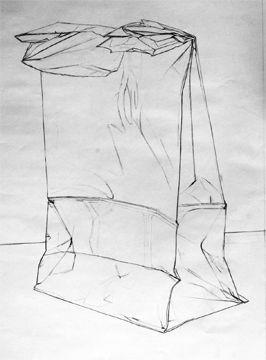 Paper Sack Outline-7th Grade art