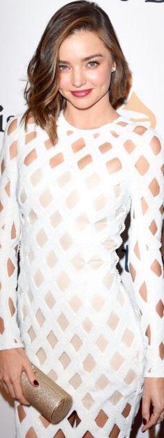 14 Feb. 2016: Miranda Kerr at the Clive Davis pre-Grammy Gala, Los Angeles Dress: Balmain Paris S/S 2016