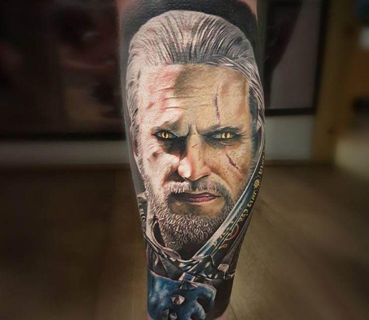 Witcher tattoo by Marek Hali
