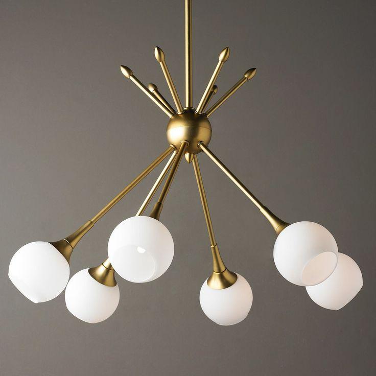 Mid-Century Modern Mobile Chandelier - 6 Light golden