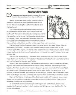 compare and contrast native american indians and african americans Non-indians, particularly europeans and white americans, have consistently failed to appreciate the culture and specific identities of native americans, which has in contrast to european and anglo-american ideas that the world is to be understood in terms of causal connections and linear chronology, traditional native.