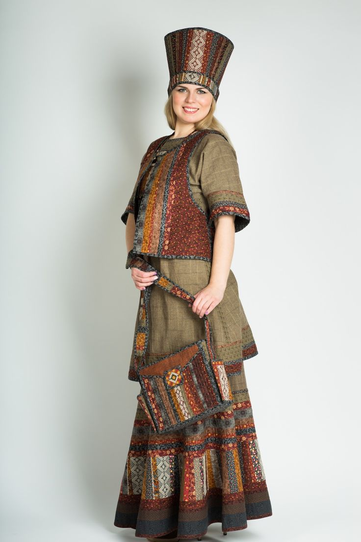 Patchwork style clothing of designer Ksenia Dmitrieva
