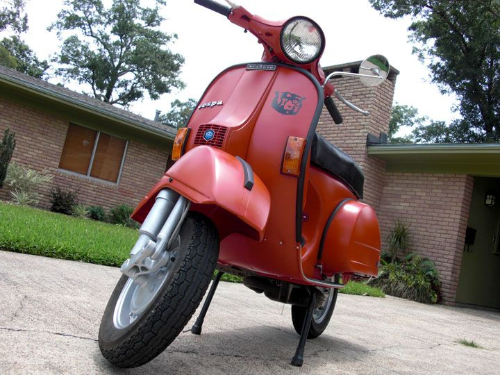 Vespa P200E restored by me. An ongoing project.