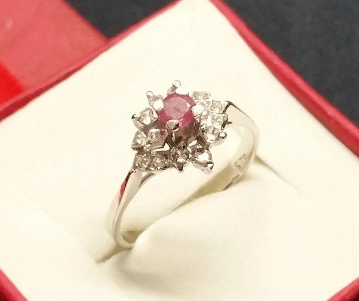 Vintage Ringe - 19 mm Ring Silber rosa Turmalin & Kristalle... - ein Designerstück von Atelier-Regina bei DaWanda