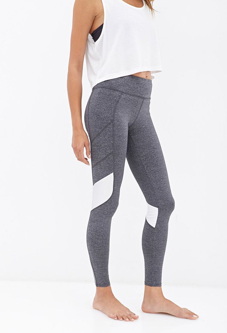 //...Colorblocked Performance Leggings #F21Active