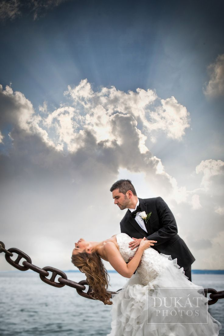 Spencer's at the Waterfront Wedding Bride and Groom portraits. A fine art portrait moment!