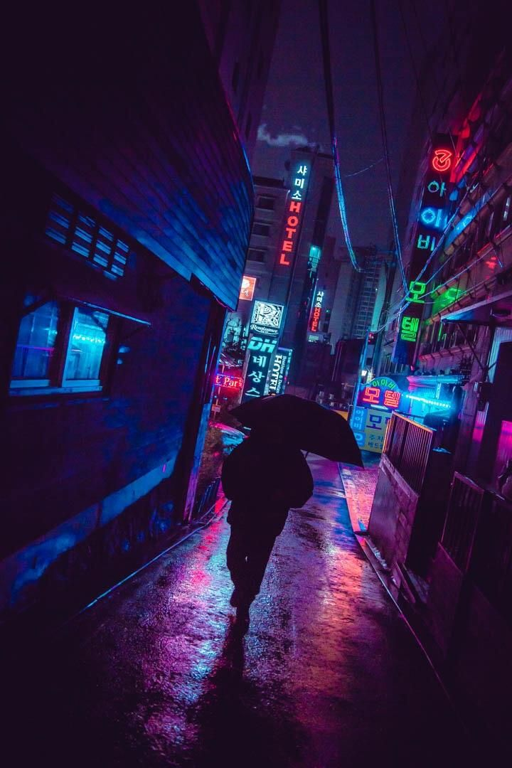 Aesthetic Seoul Cyberpunk Aesthetic Neon Noir Cyberpunk City