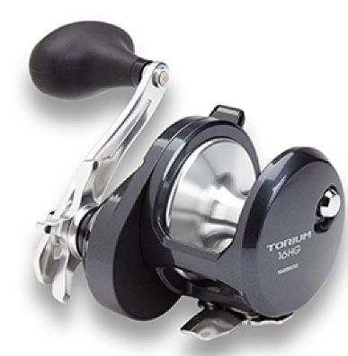 The Shimano Torium 16HGA is best know for it light weight at 18.9 ounces and its solid construction. Ideal for fishing with live bait and bottom fishing. The Torium has a gear ratio of 6.2:1 and has a 4 ball bearing count. The reel has a smooth and sturdy look and feel. If your looking for a great reel - the Shimano Torium should be considered.