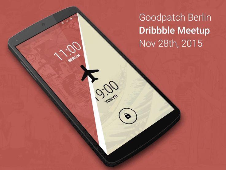 Berlin Dribbble Meetup — Travel Lockscreen / Noah Levin