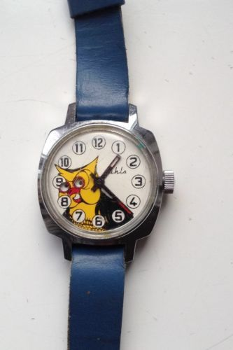 AUCTION ENDING SUNDAY 8pm NEW AUCTIONS FROM TONIGHT 8.30pm....VINTAGE ANIMATED RUHLA OWL WATCH FOR SPARES OR REPAIRS