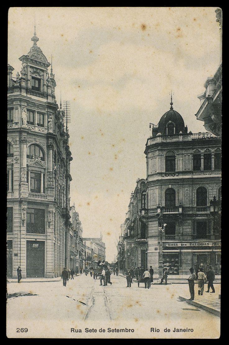 Anônimo. Rua Sete de Setembro, década 1910. Rio de Janeiro Brasiliana Fotográfica