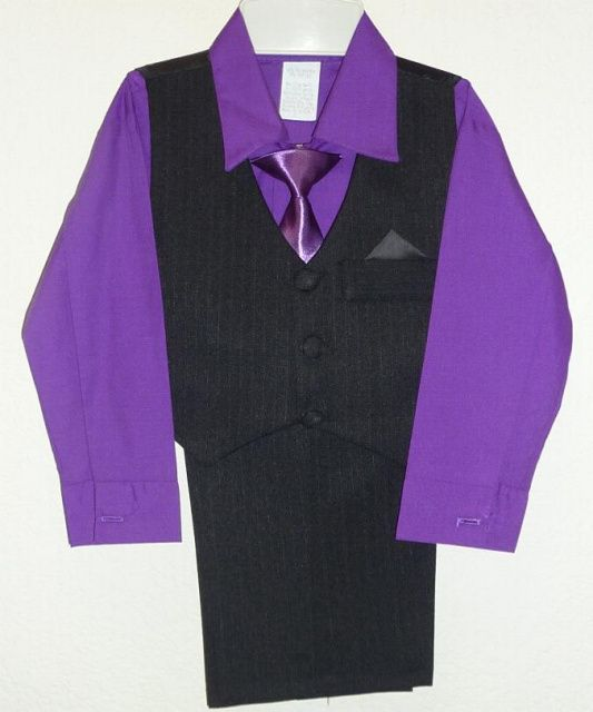 Toddler Boys Dark Purple Suit