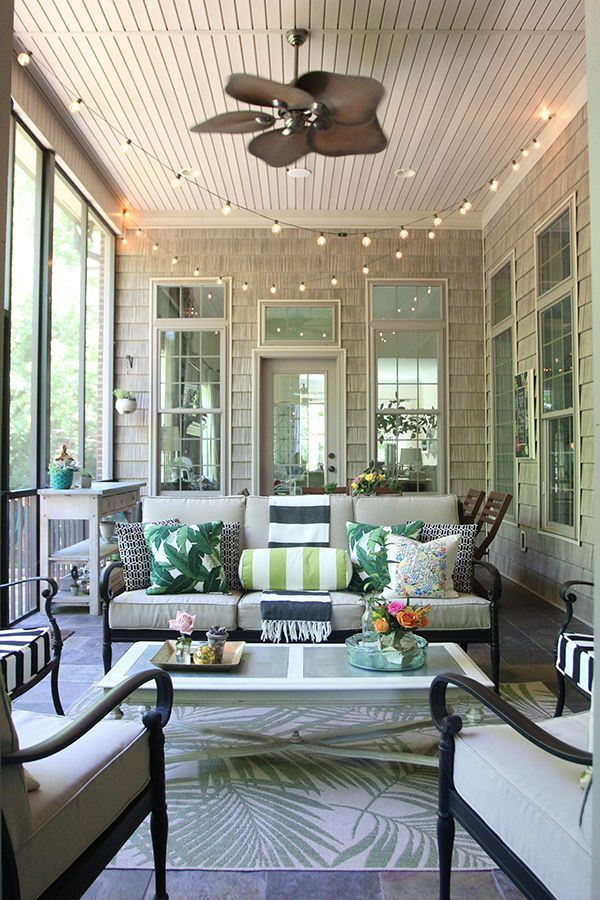 Summer Screened Porch Decor Less Than Perfect Life Of Bliss Home Diy Travel Parties Family Screened Porch Decorating Porch Furniture Porch Decorating